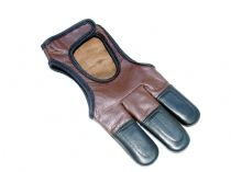 Red Frog Smooth Leather Archery Shooting Glove Draw Hand